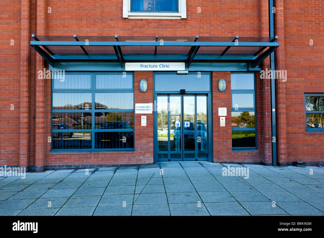 Fracture clinic entrance - Stock Image