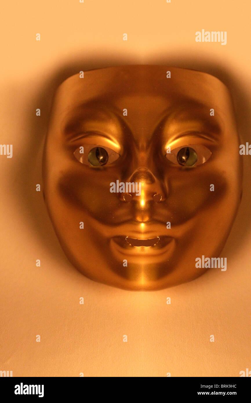 Metallic mask - Stock Image
