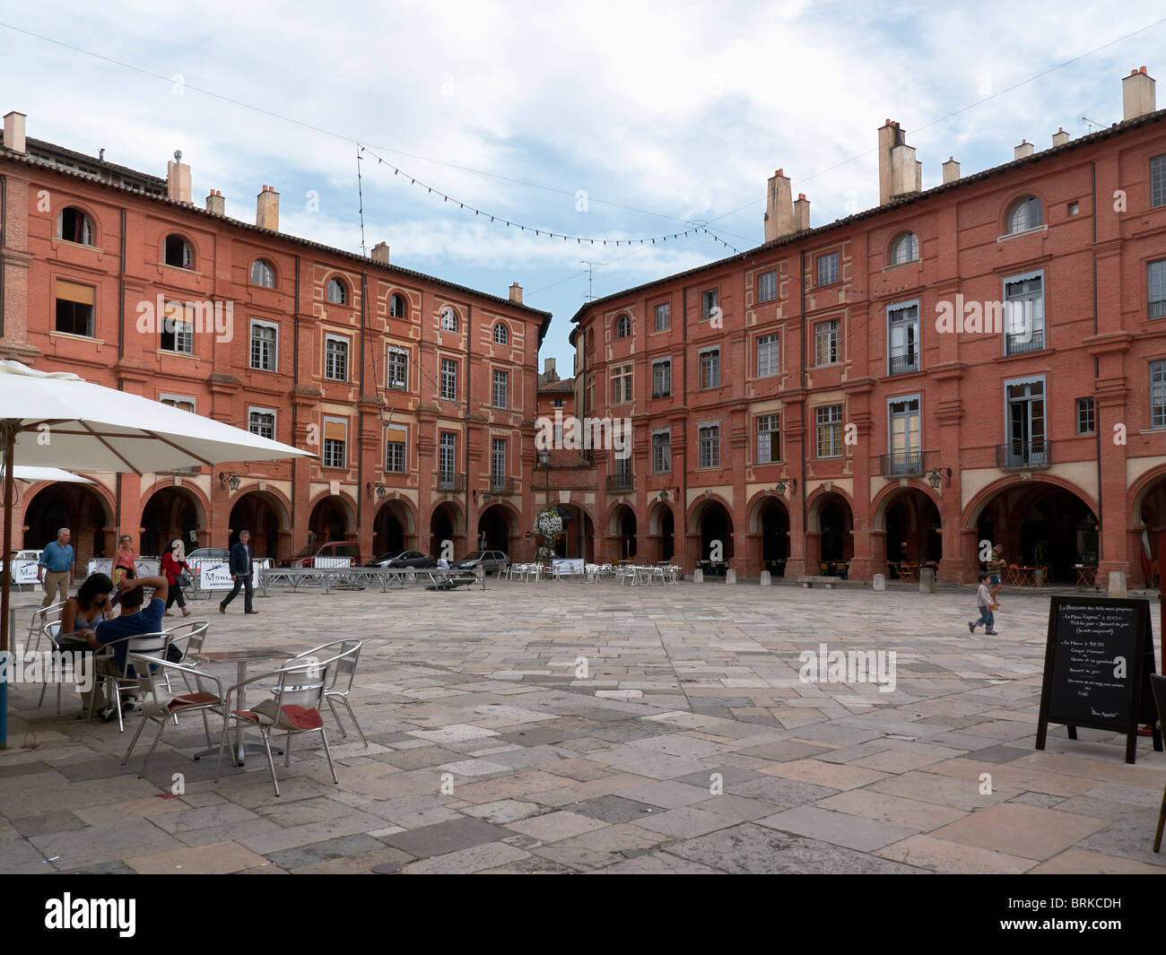 place Nationale in Montauban - Stock Image