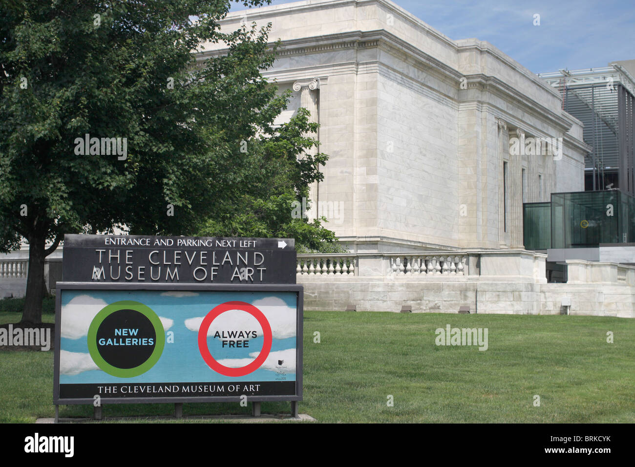Cleveland Museum of Art - Case Western Reserve University - Cleveland Ohio Stock Photo