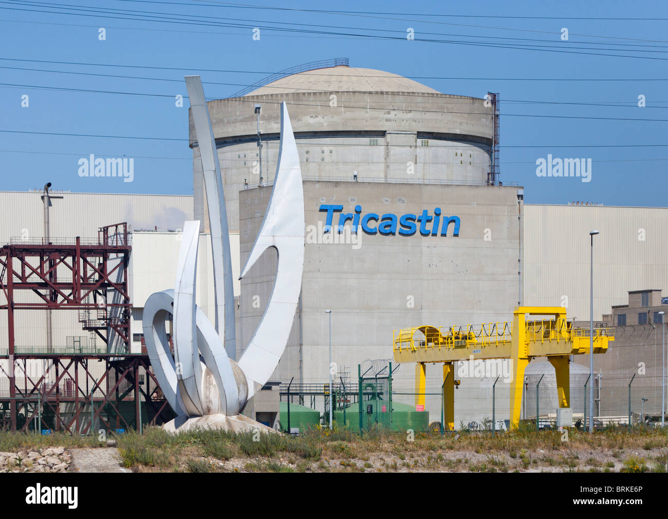 Work of art at nuclear power station in france - Stock Image