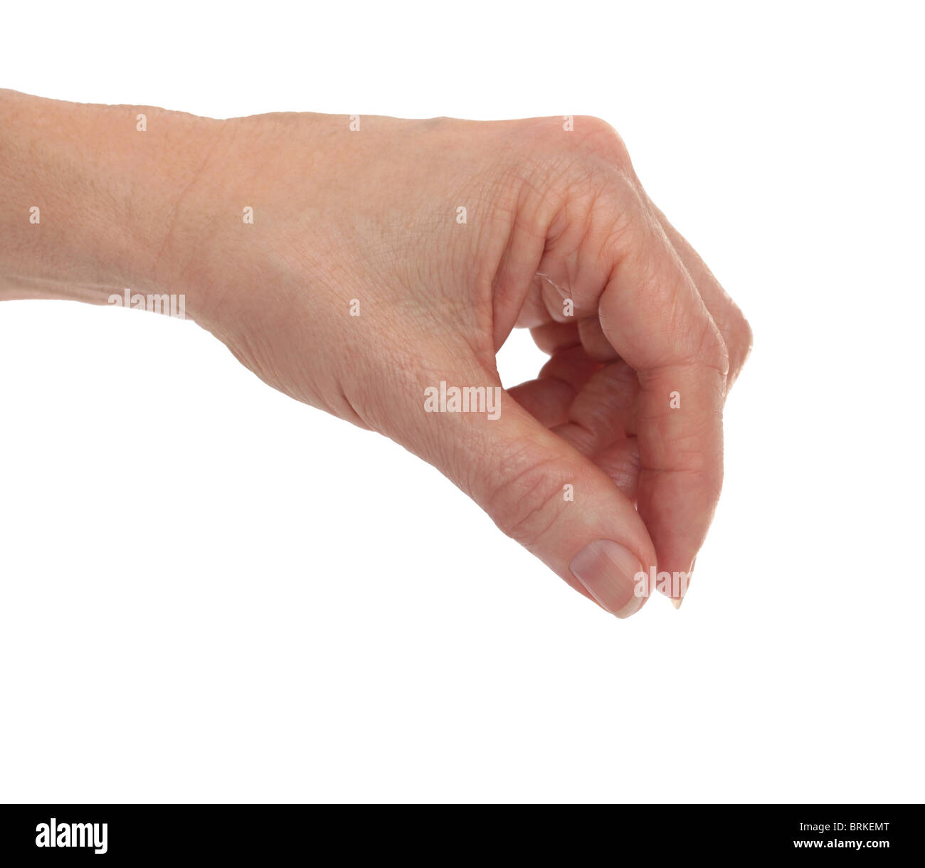 Hand Fingers Placing - Stock Image
