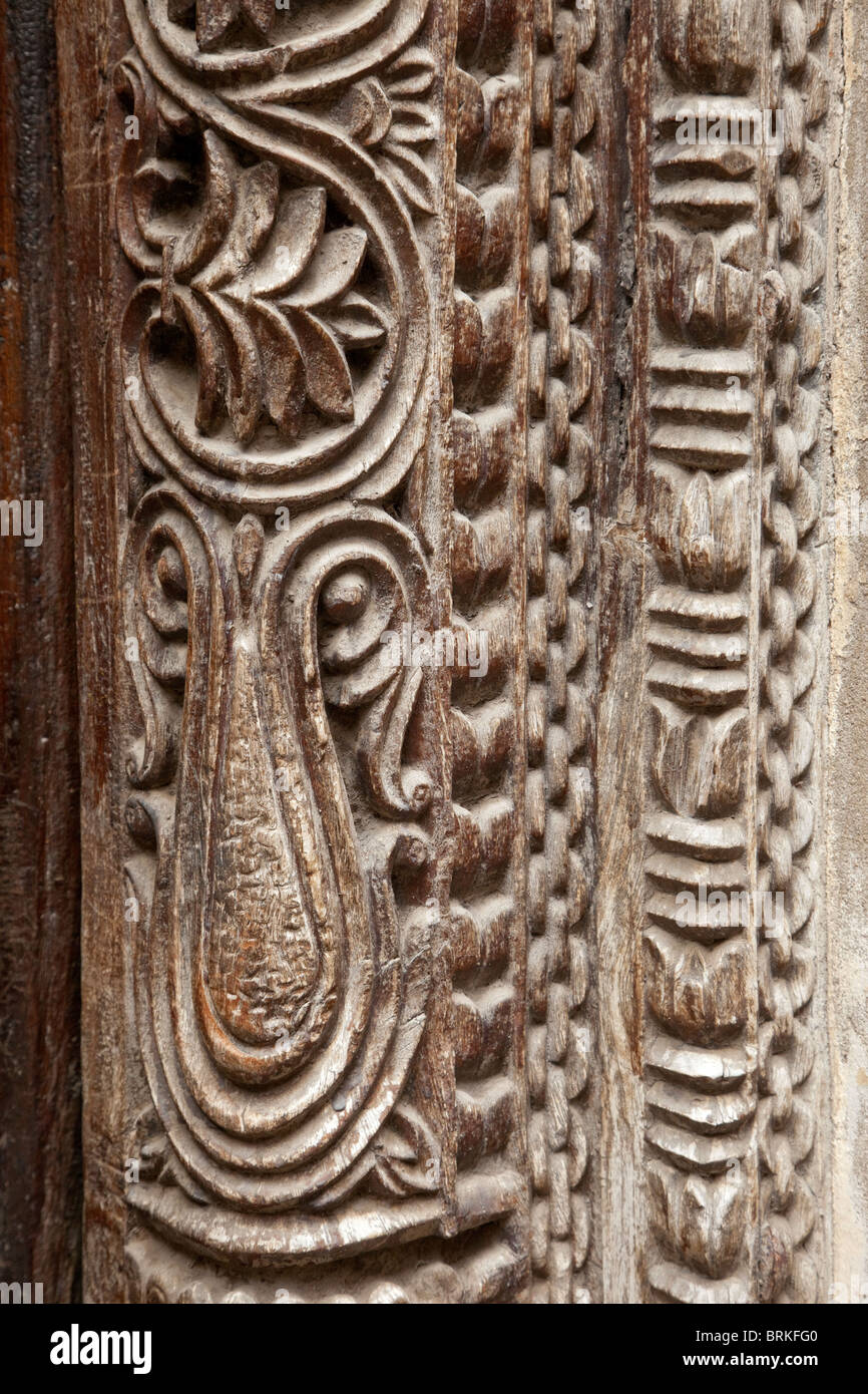 Carved Door Frame in Stone Town. - Stock Image & Carved Door Frame Stock Photos \u0026 Carved Door Frame Stock Images - Alamy