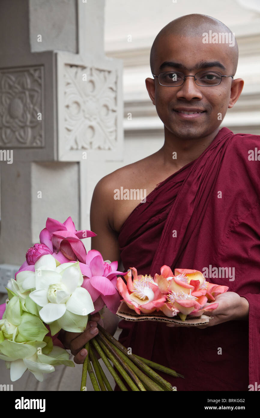 Buddhism in Sri Lanka is primarily of the Theravada school, and constitutes the religious faith of about 70% of - Stock Image