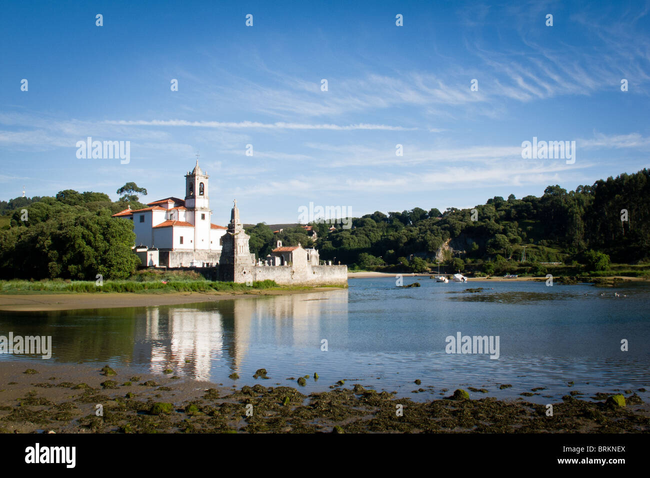 4 Aug 2010 Church at Barro, Llanes, Asturias, Spain - Stock Image