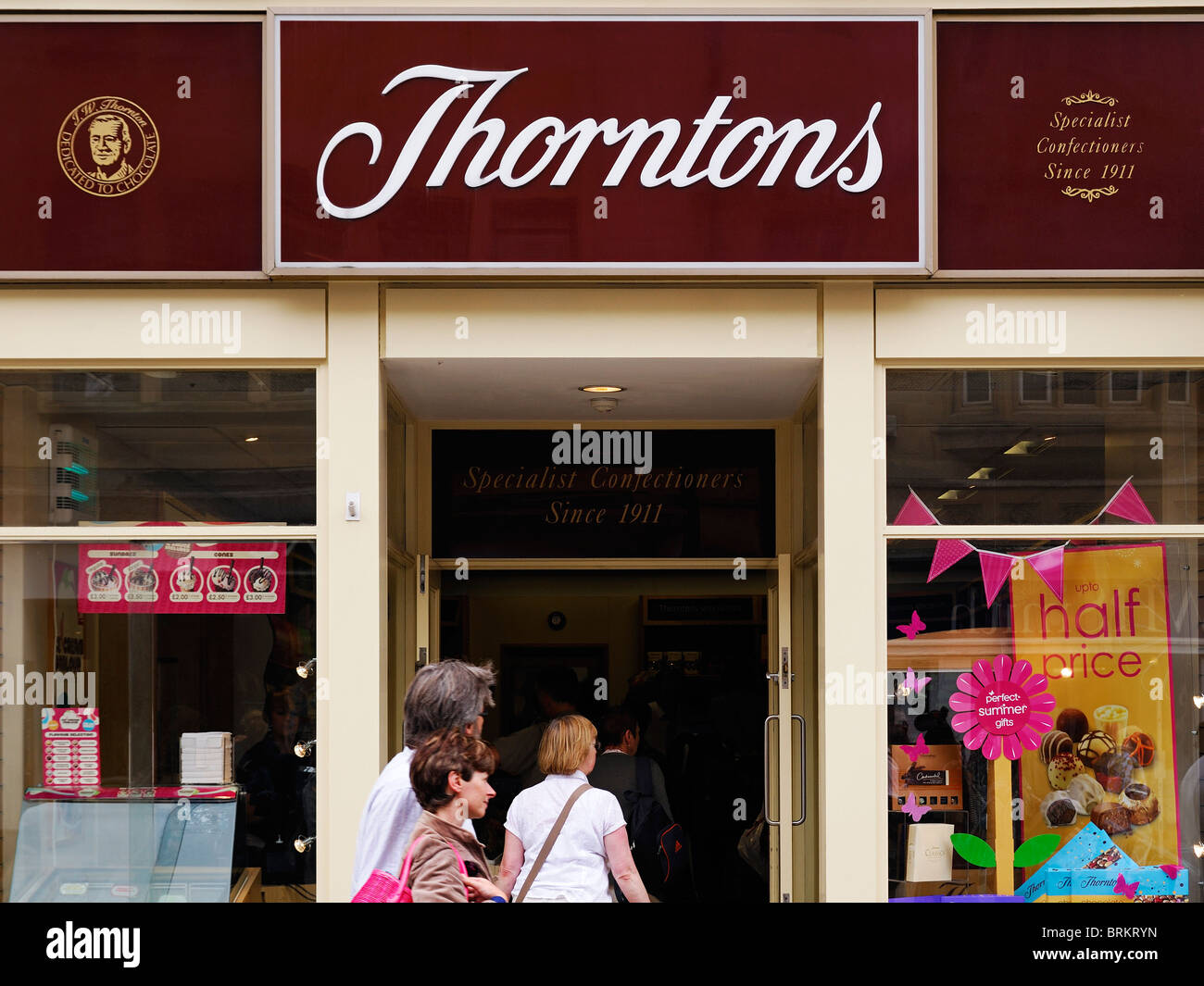 Thorntons Confectioners, Oxford, UK. - Stock Image