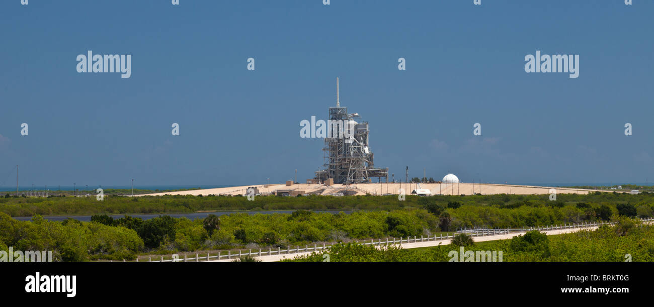 The Space Shuttle launch pad at the Kennedy Space centre, Florida - Stock Image
