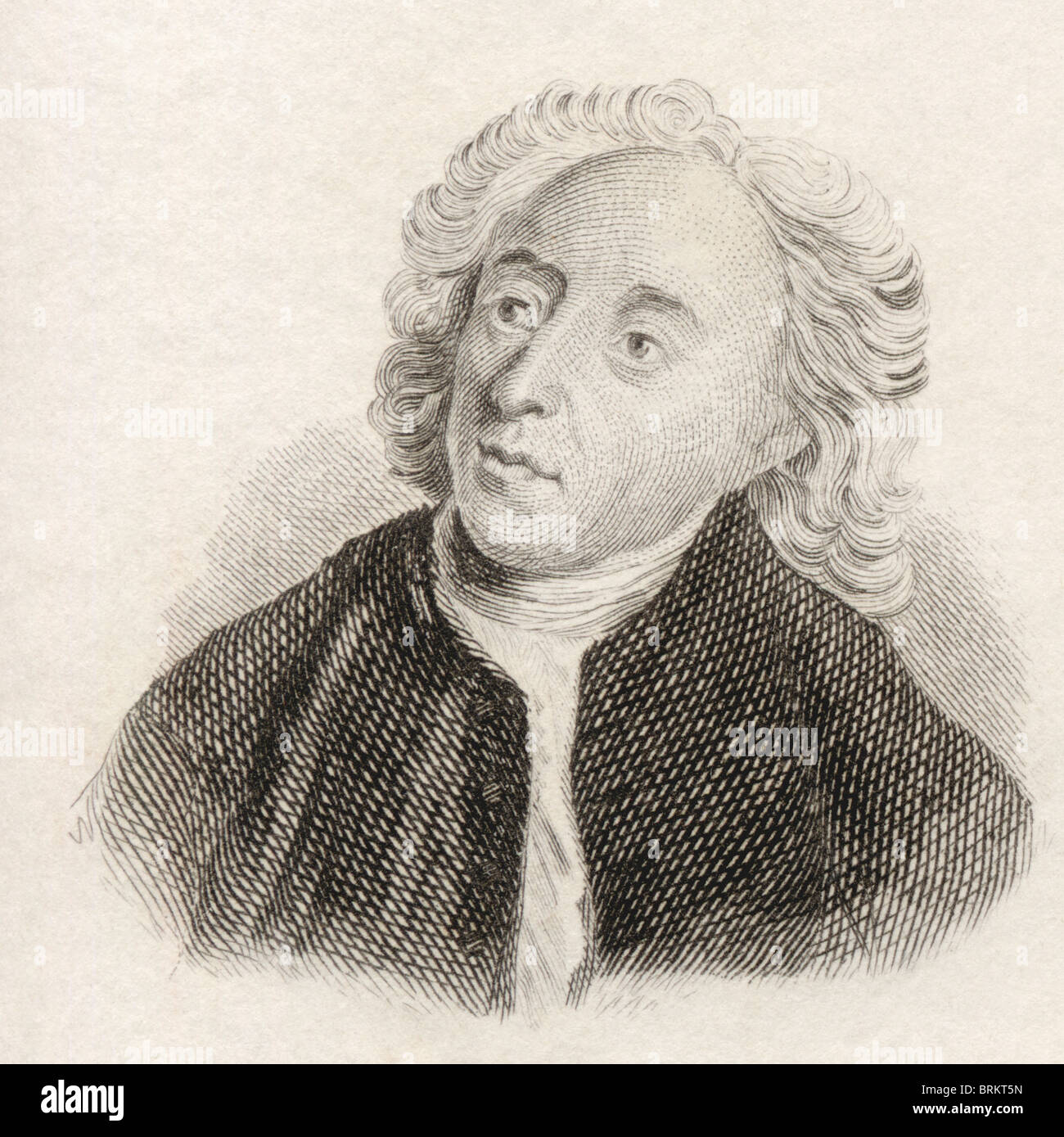 Alexander Pope, 1688 to 1744. English satirical poet. - Stock Image