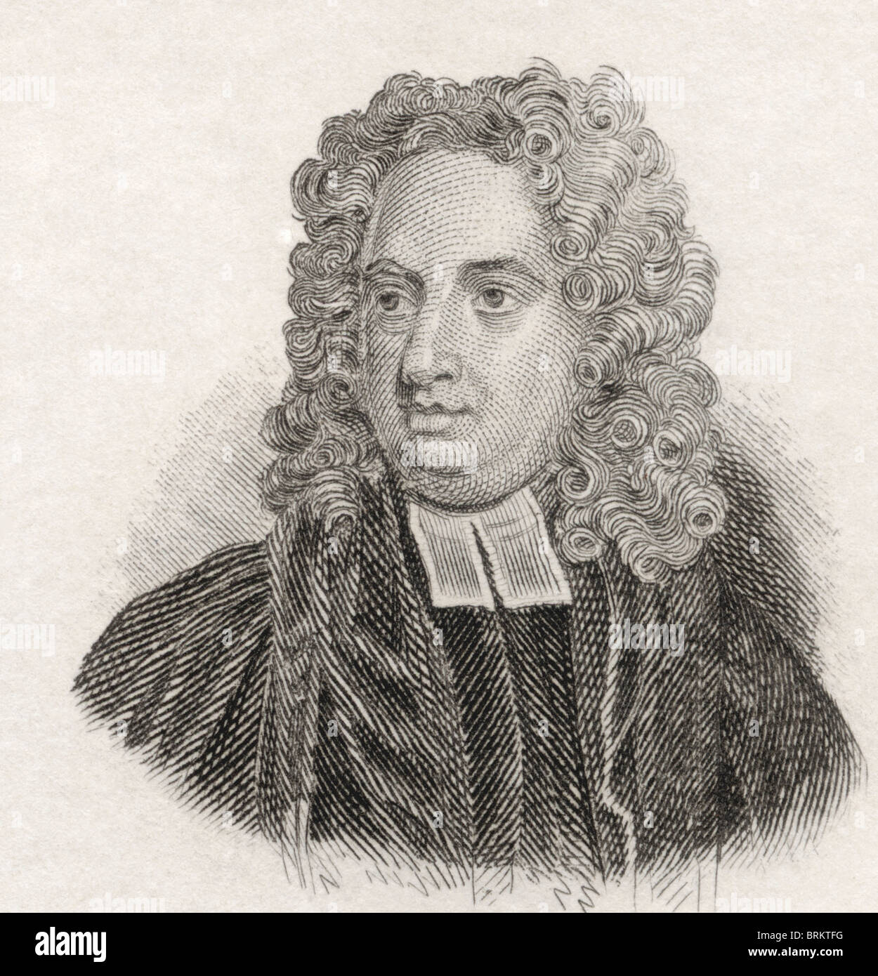 Jonathan Swift, 1667 to 1745. Anglo-Irish satirist, essayist, political pamphleteer, poet and cleric. - Stock Image