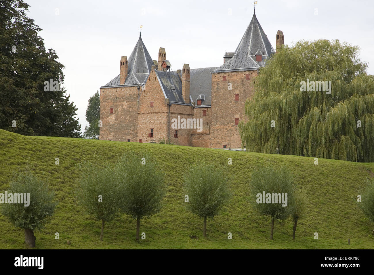 'Slot Loevestein, a castle that plays an important role in the history of Holland - Stock Image