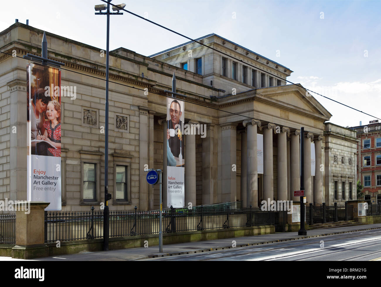 Manchester Art Gallery, designed by Sir Charles Barry in 1824 and situated in Mosley Street in Manchester City centre. - Stock Image