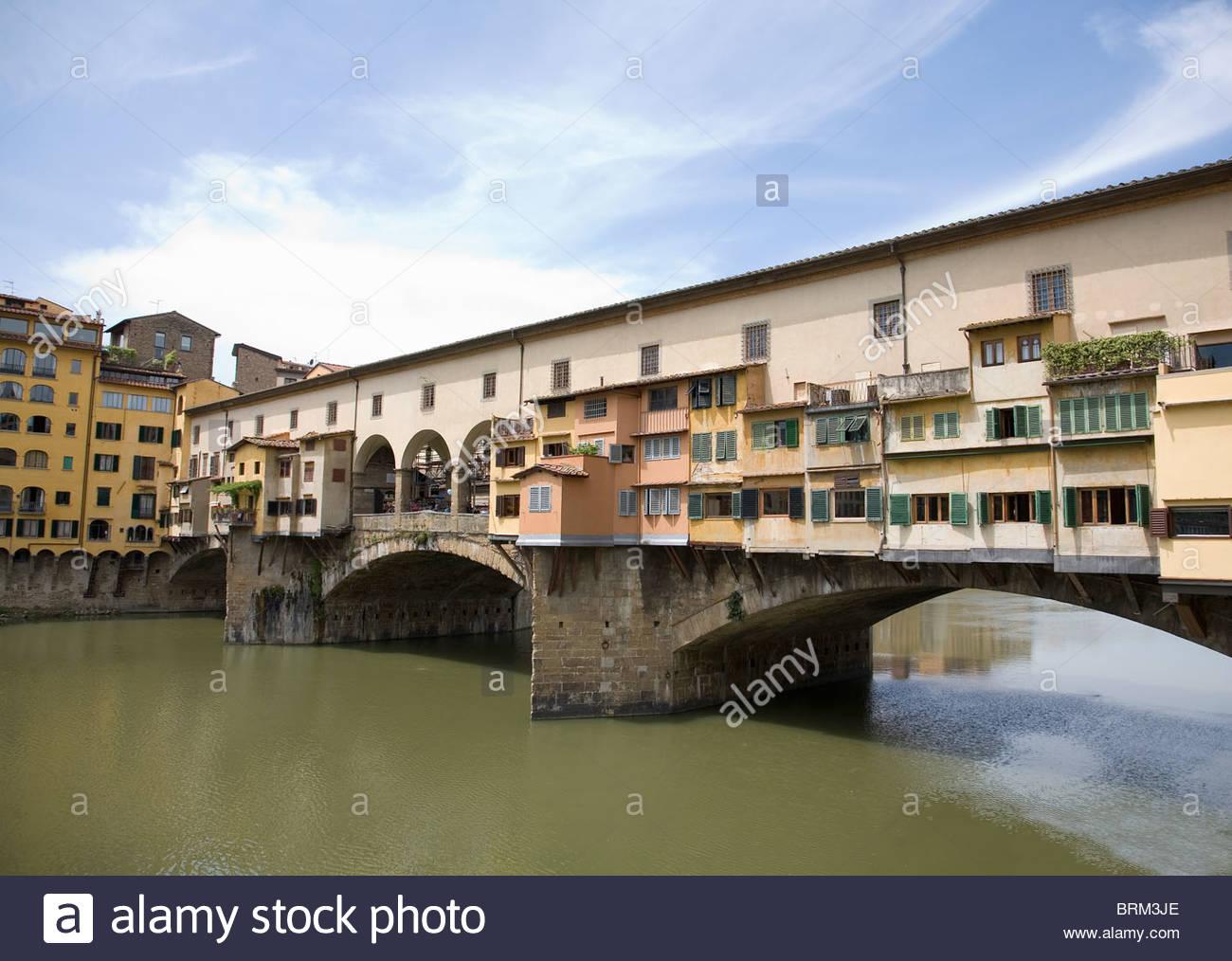 Ponte Vecchio and Arno River - Stock Image