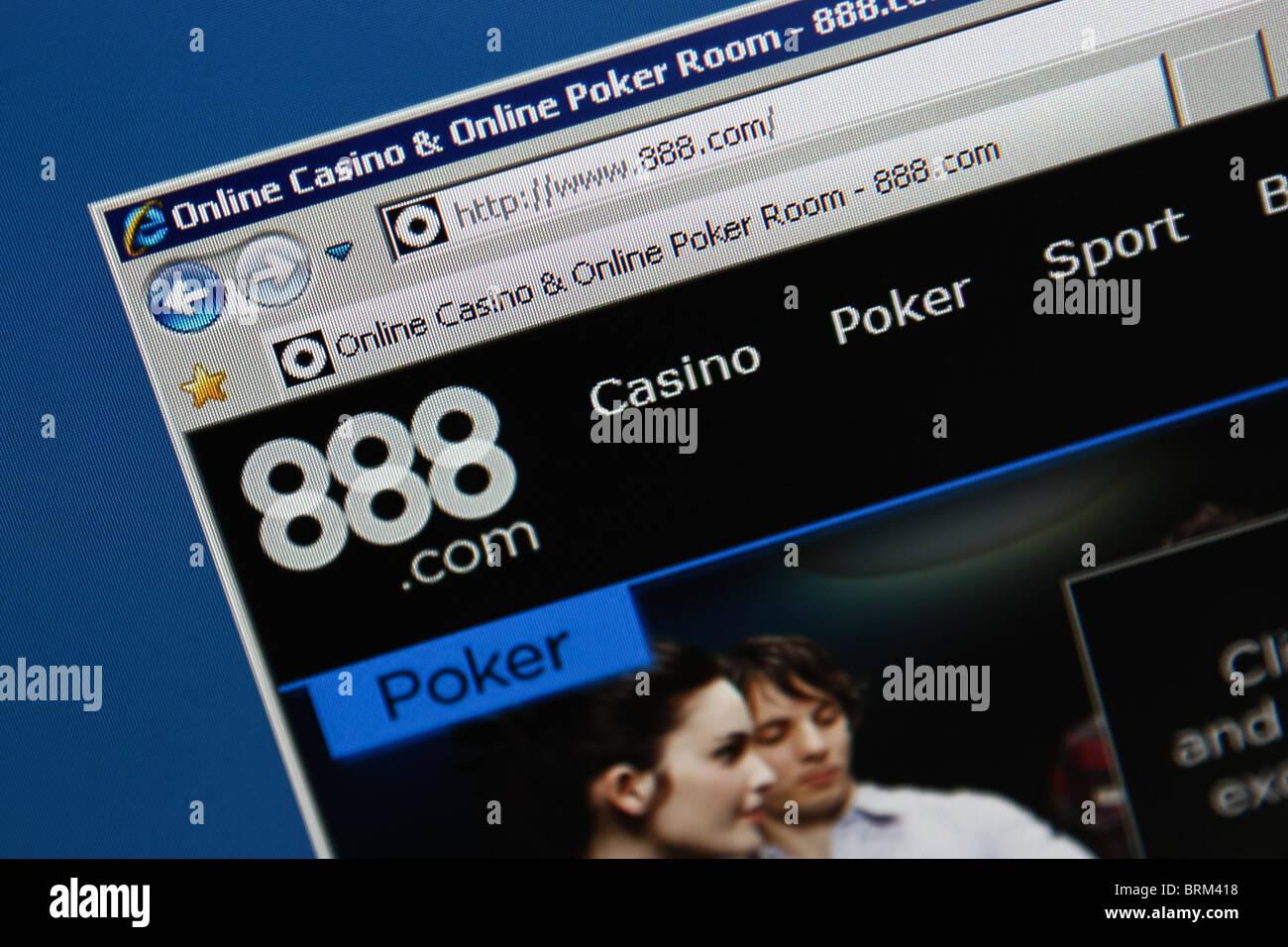 poker online gambling 888.com - Stock Image