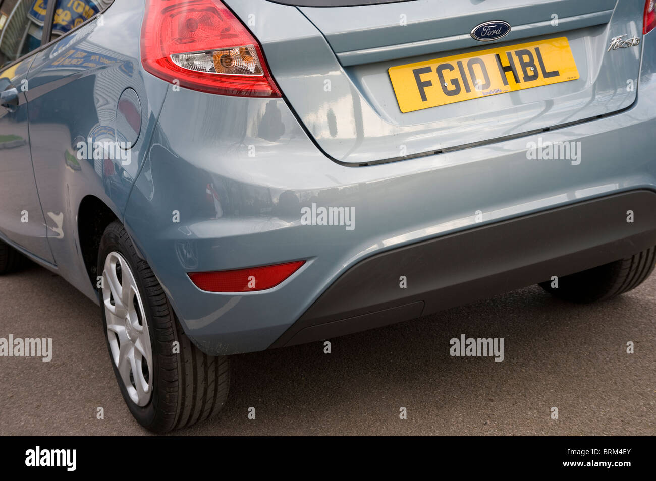 Close up view of rear of a ford fiesta city car. Stock Photo