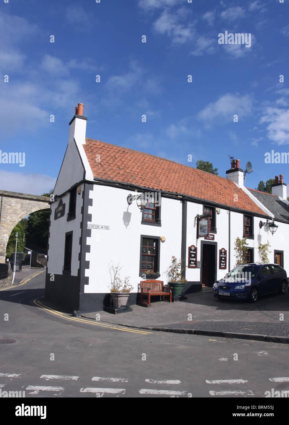 exterior of Railway Inn Lower Largo Fife Scotland  September 2010 - Stock Image