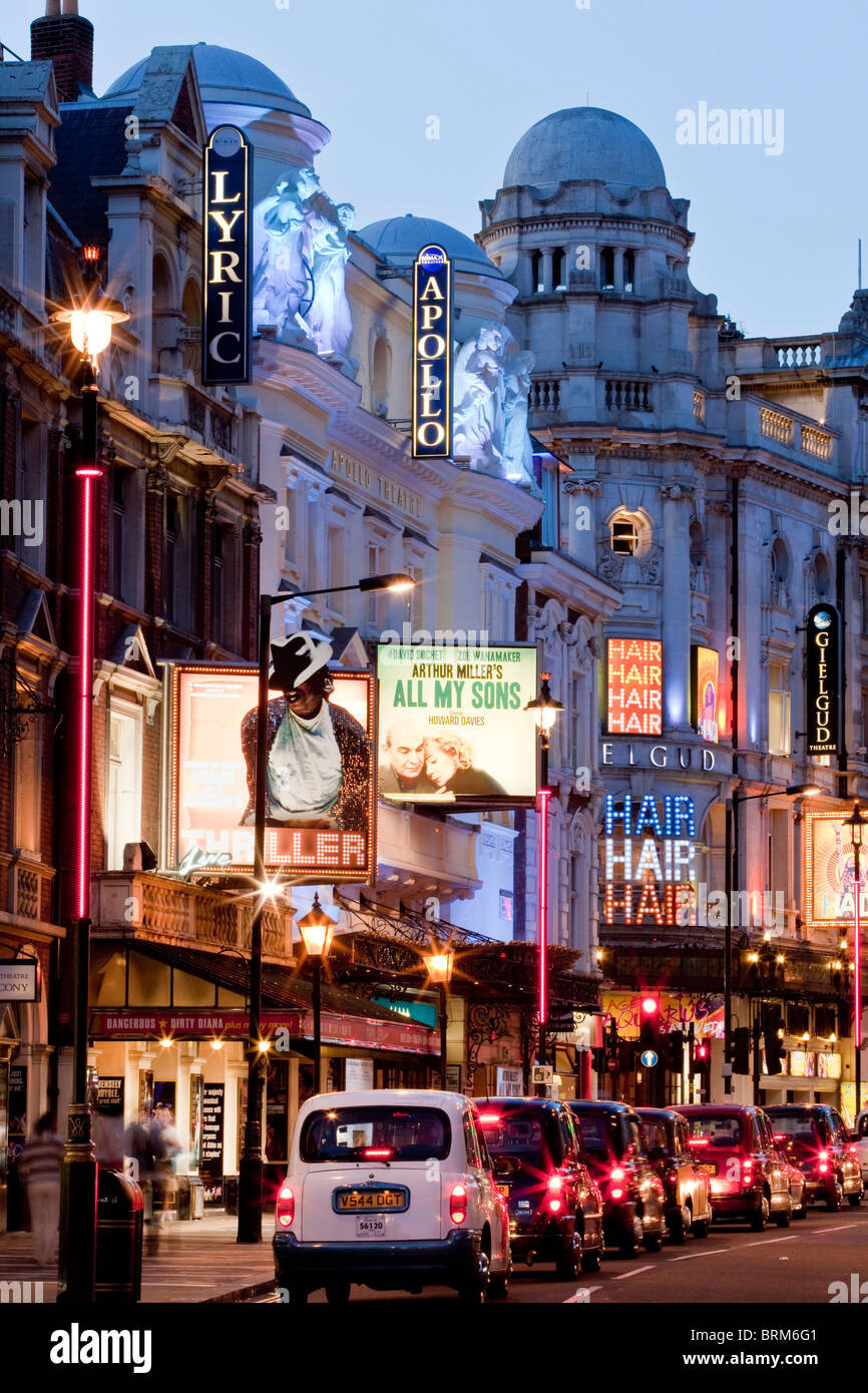 'Theatreland', Shaftesbury Avenue, London, England - Stock Image