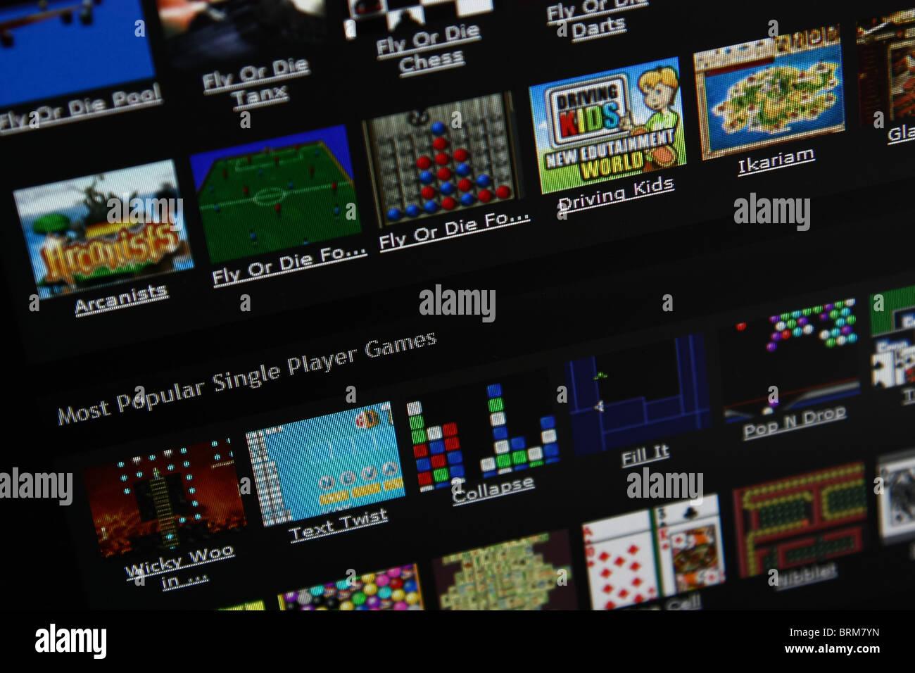 online gaming arcade - Stock Image