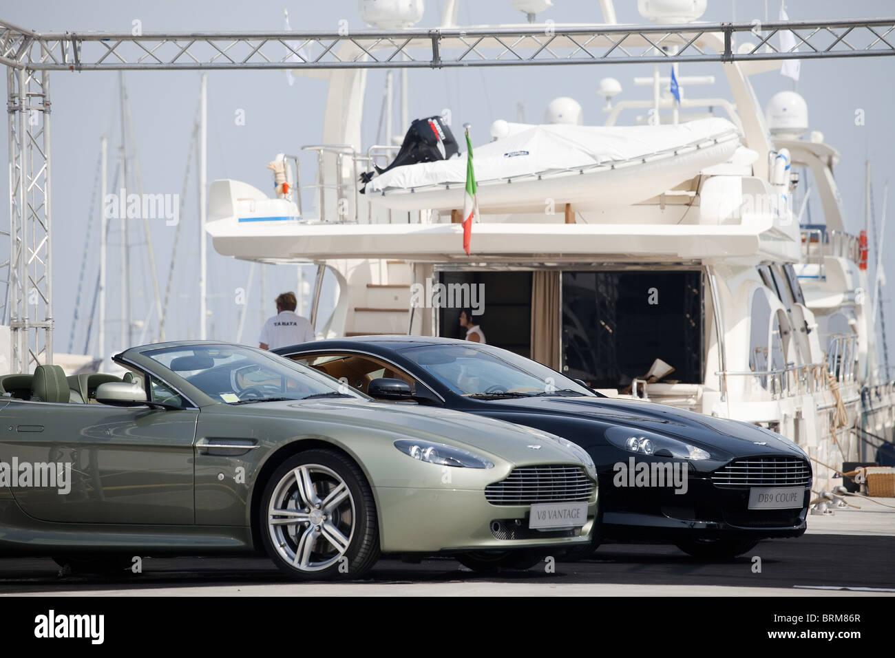 Aston Martin Luxury Car And Yacht Exibition Stock Photo 31792959