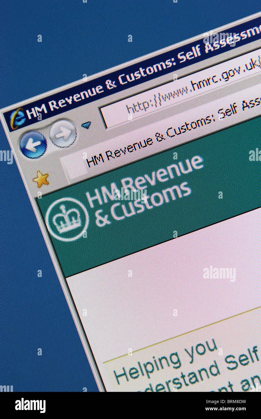 hm revenue customs website - Stock Image