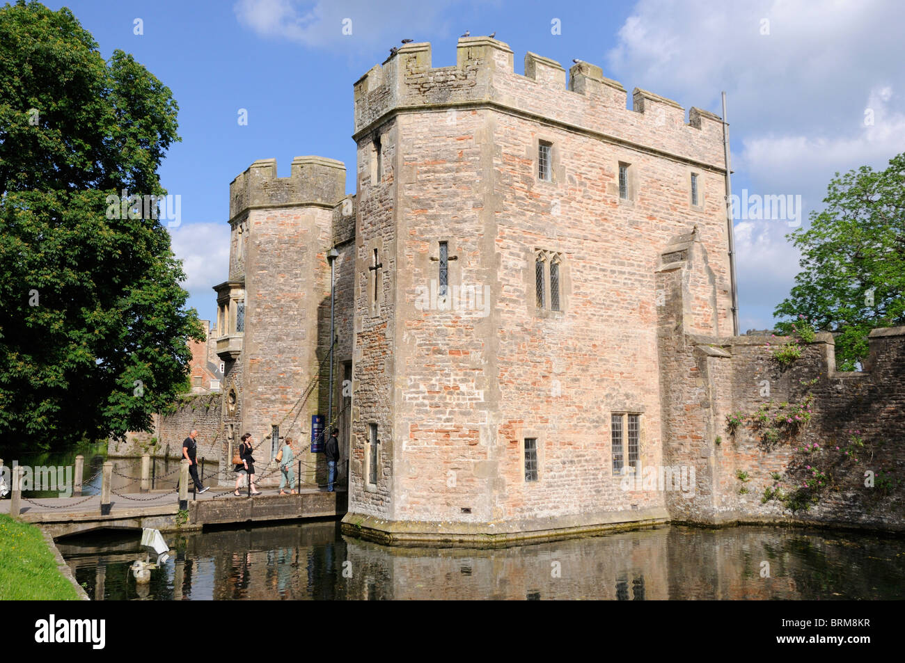 Gateway to the Bishop's Palace, Wells - Stock Image