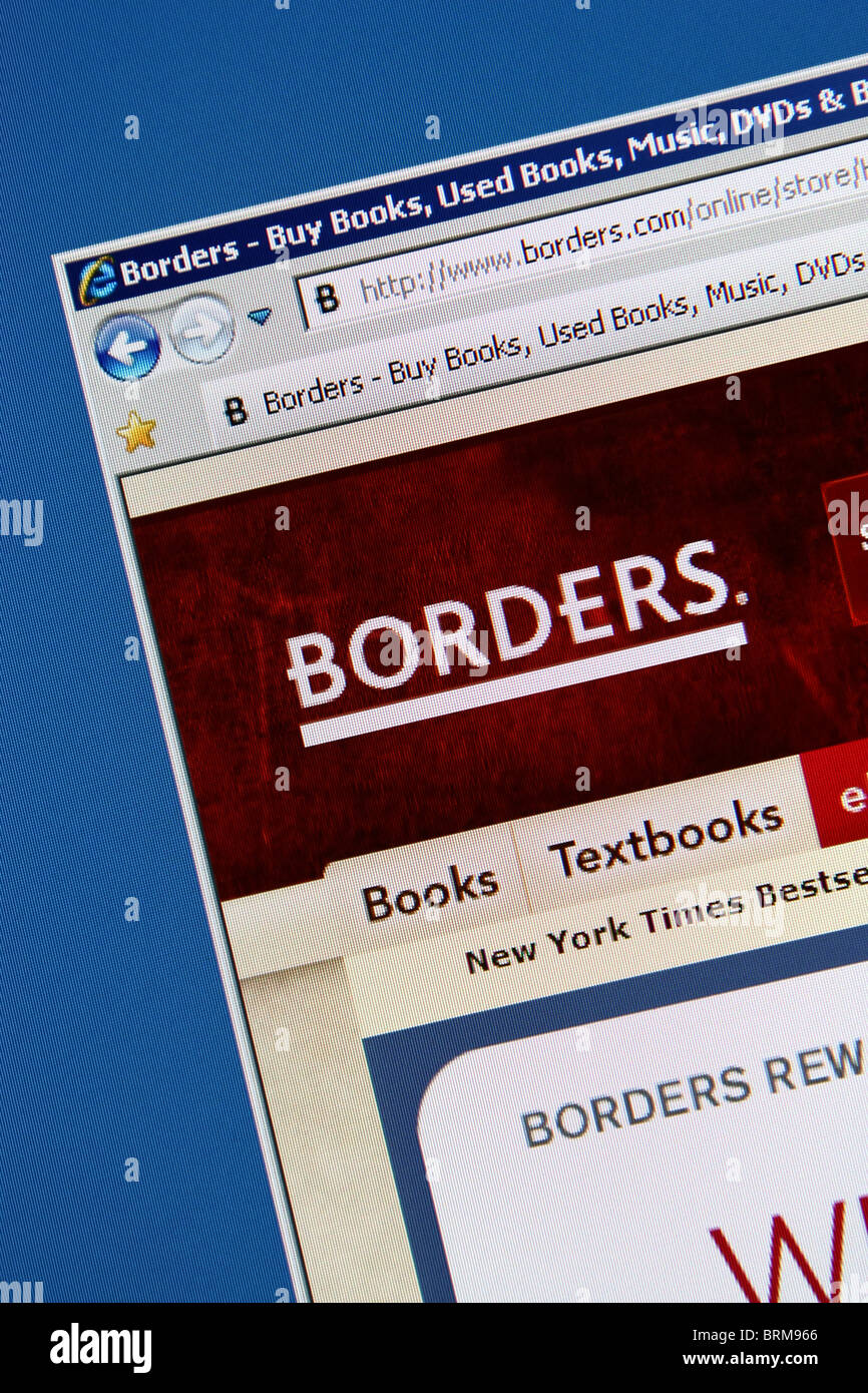 borders books shopping - Stock Image