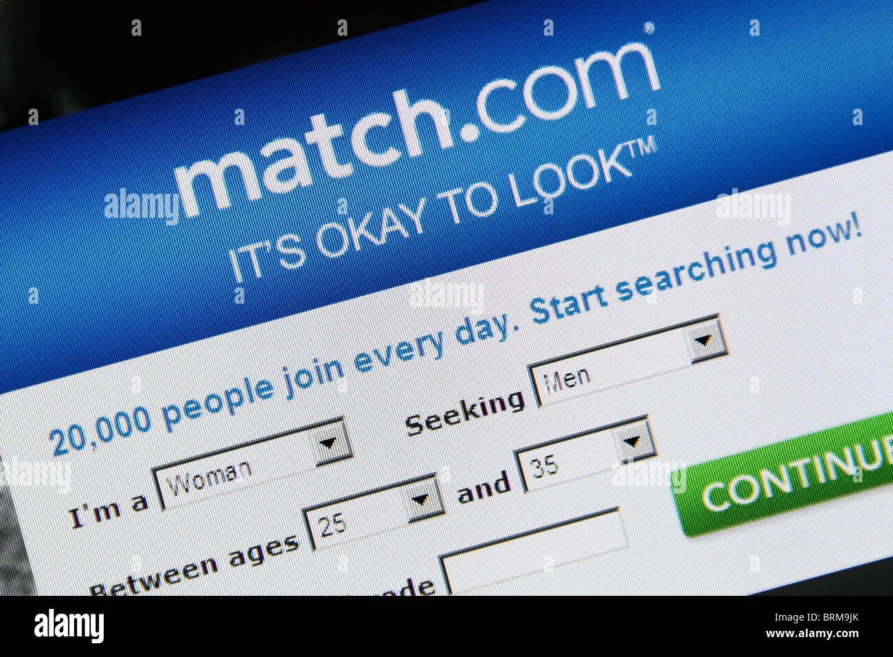 online dating match.com Stock Photo