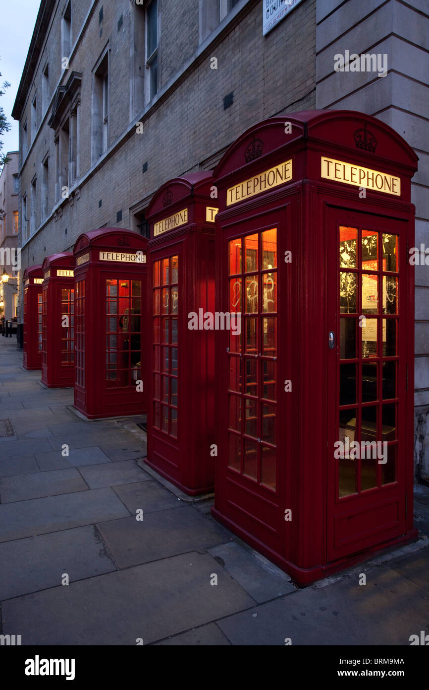 Telephone Boxes, Covent Garden, London, England - Stock Image