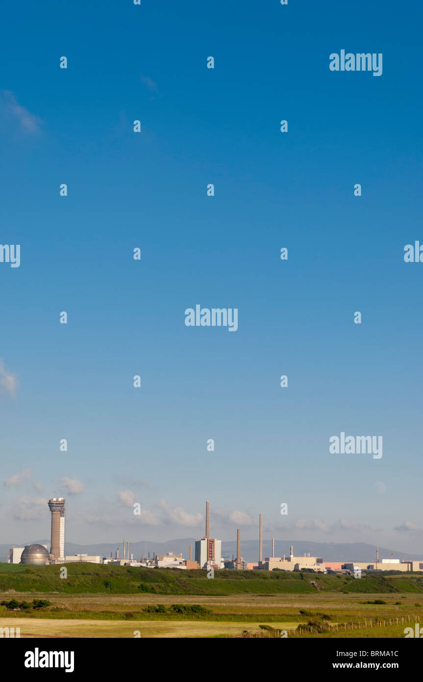 The Sellafield Nuclear power station close to the village of Seascale , Cumbria , England , Great Britain , Uk - Stock Image