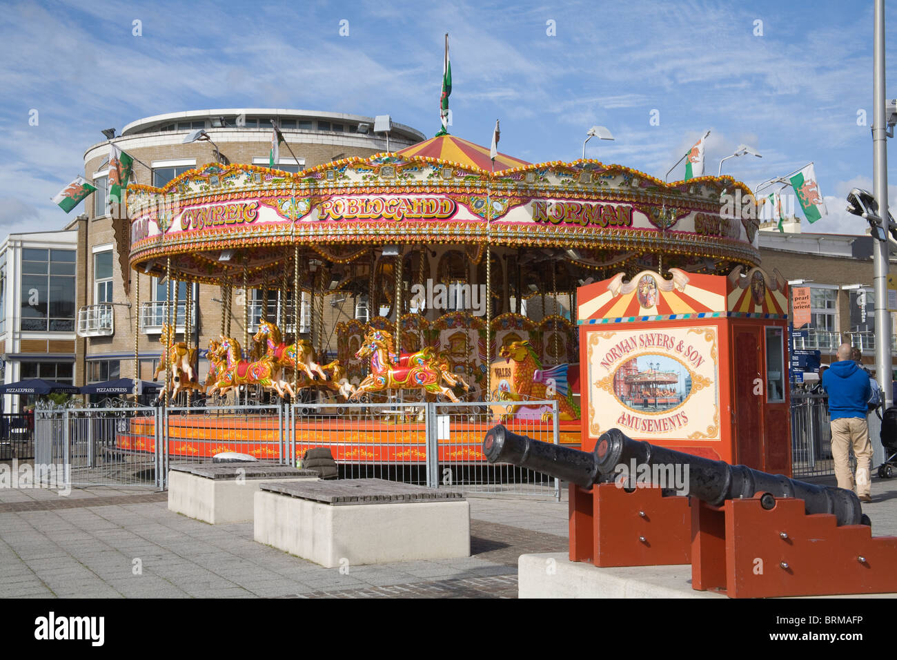 Cardiff Bay Glamorgan South Wales Uk Carousel On The