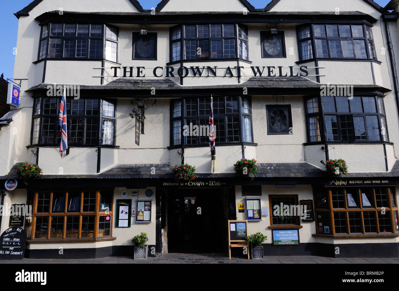 The Crown at Wells - Stock Image