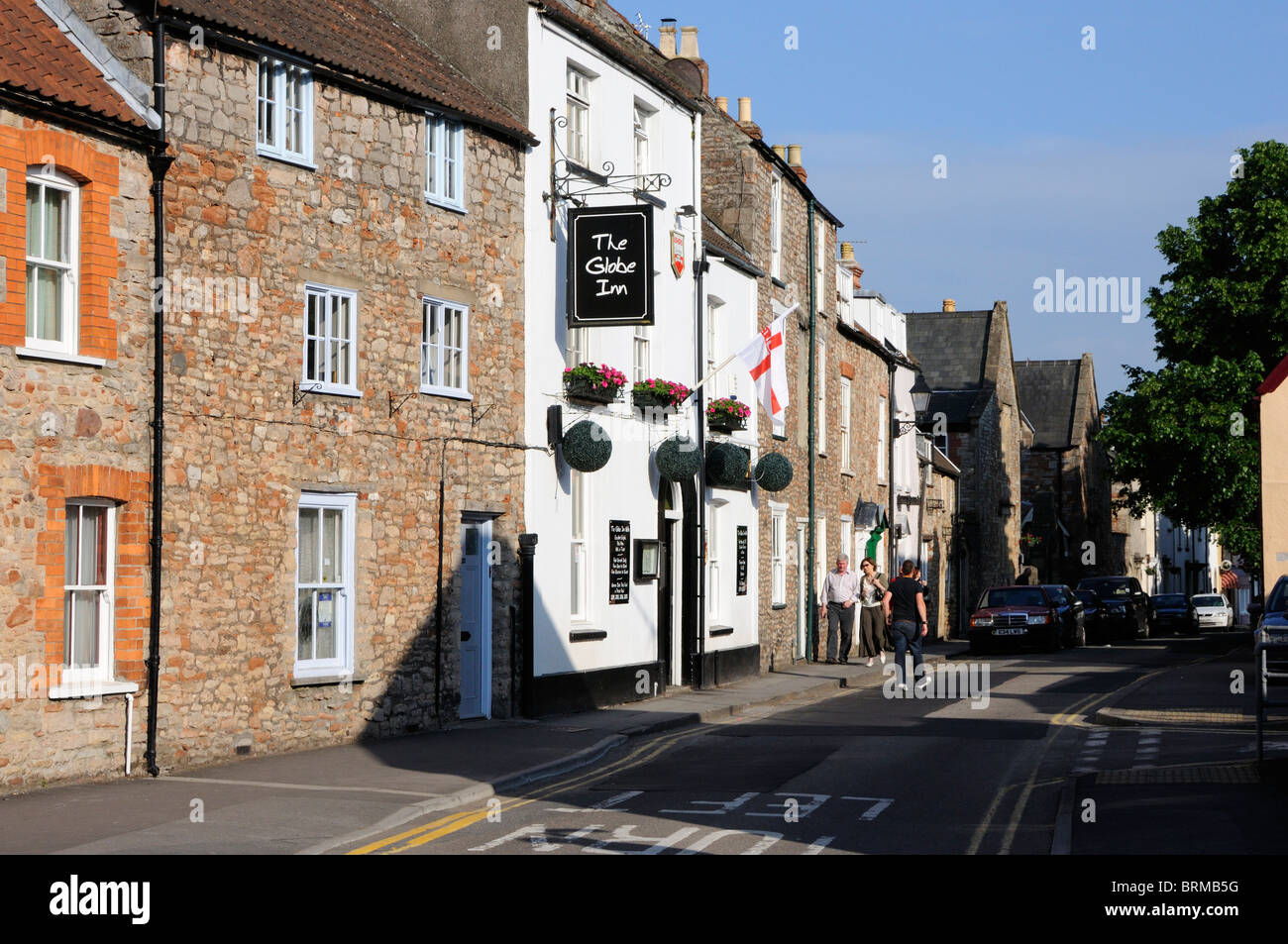 Priest Row, Wells - Stock Image