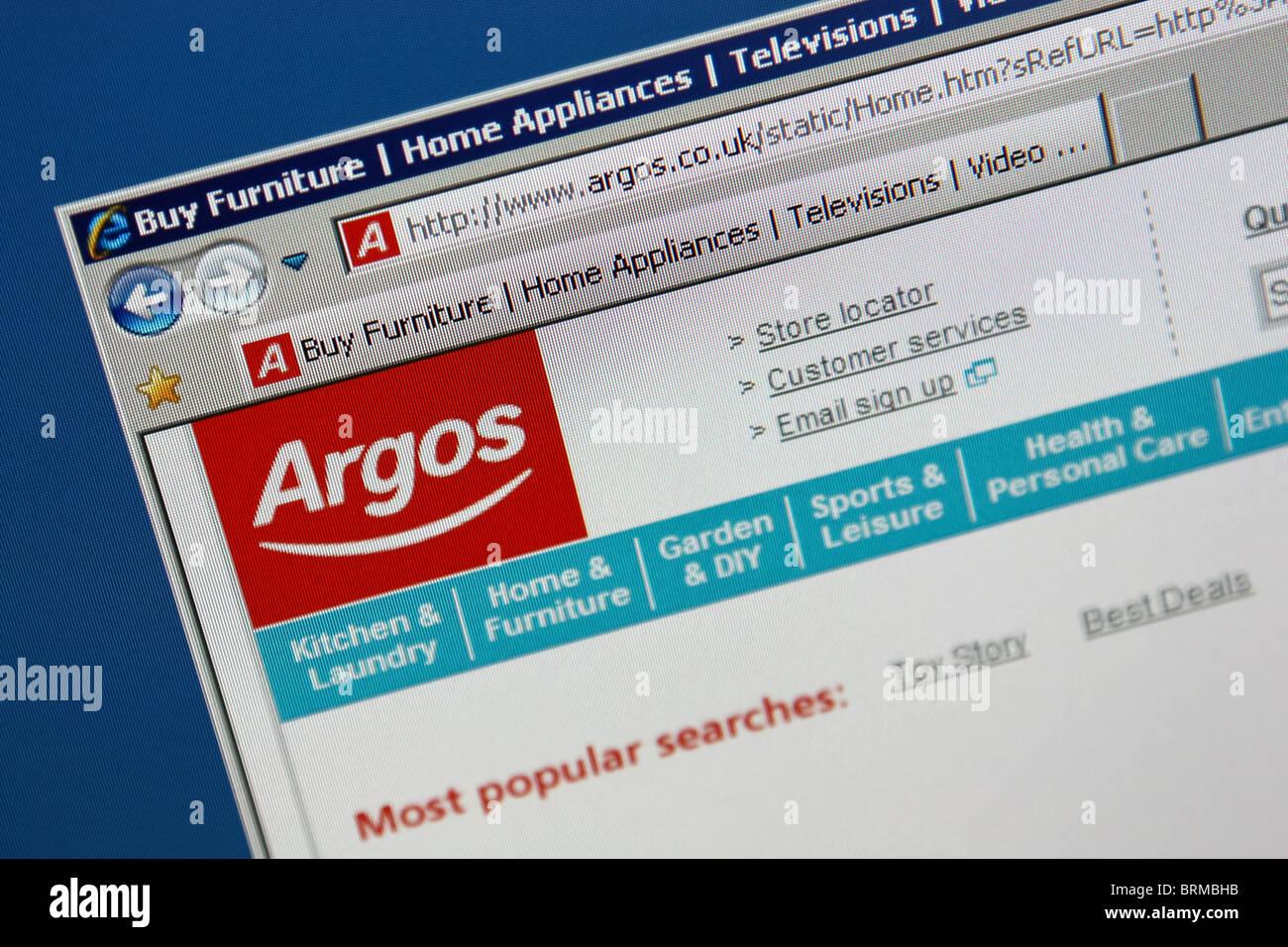 Argos store website screenshot - Stock Image