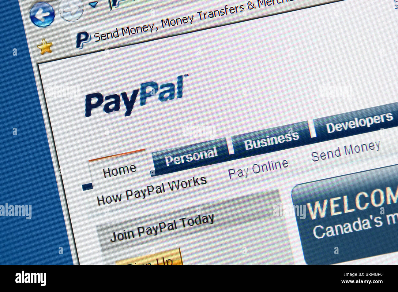online payment money transfer paypal - Stock Image
