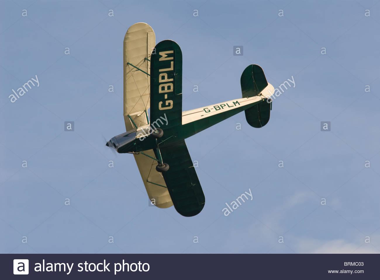 Tiger Moth Bi- plane and headcorn aerodrome in Kent - Stock Image