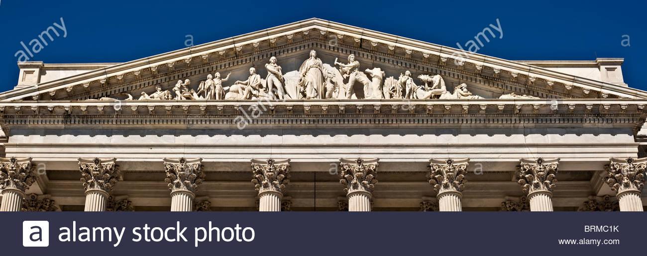 U. S. Capitol Frieze over East Facade. - Stock Image