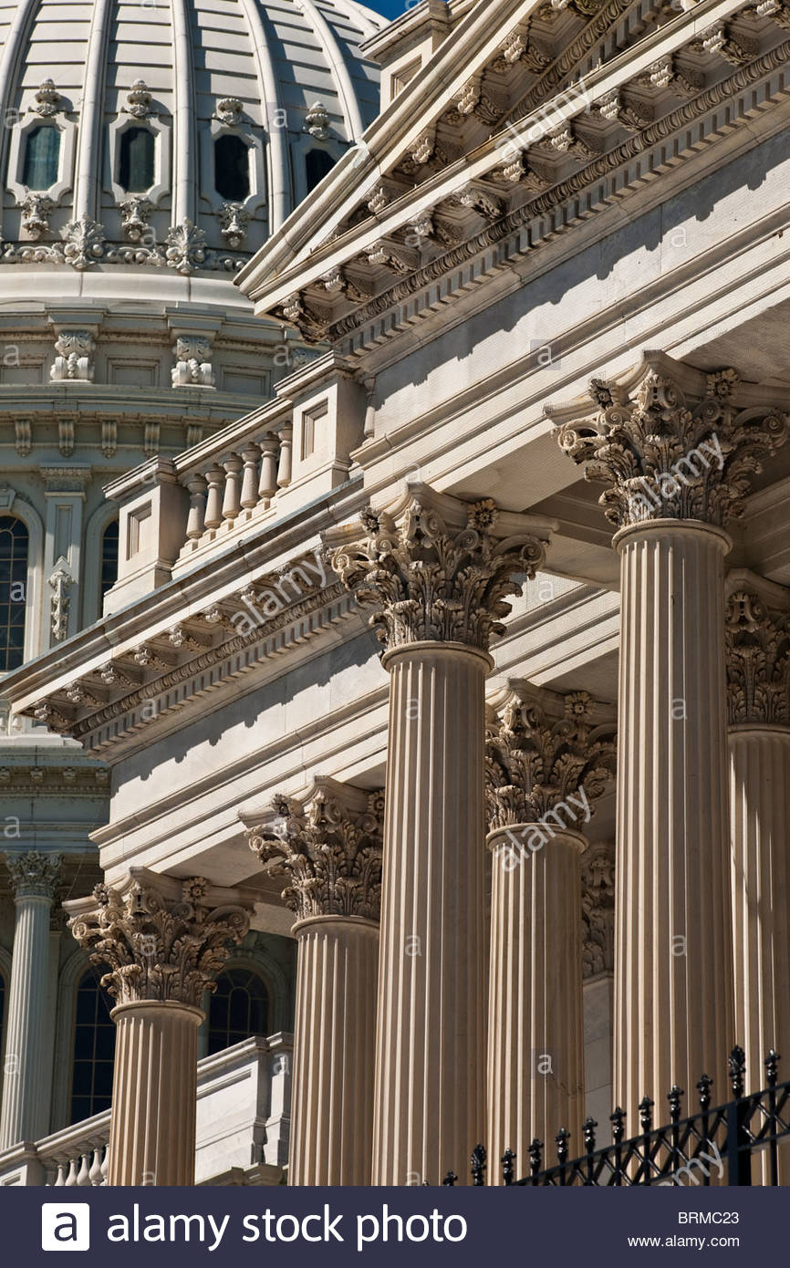 u s capitol dome and corinthian columns