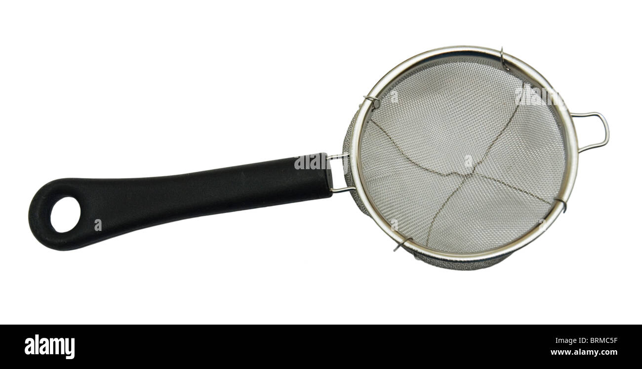 Tea Strainer cutout on a white background. Stock Photo