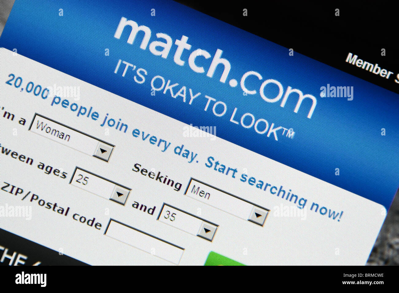 online dating match.com - Stock Image