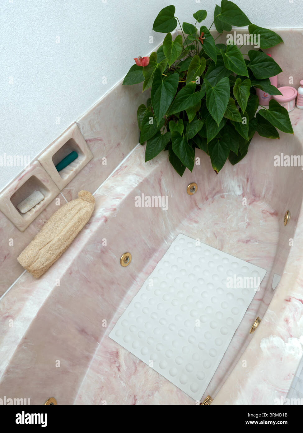 An Anti-Microbial Non Slip Bath and Shower Mat - Stock Image
