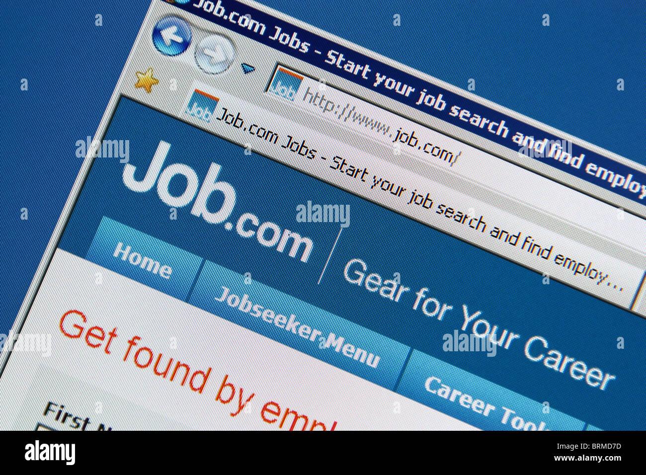 online job search website job.com - Stock Image