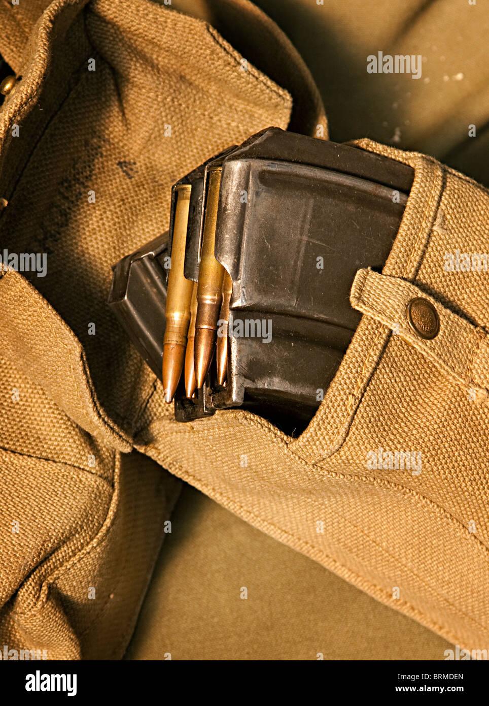 Bren gun ammunition Second World War - Stock Image
