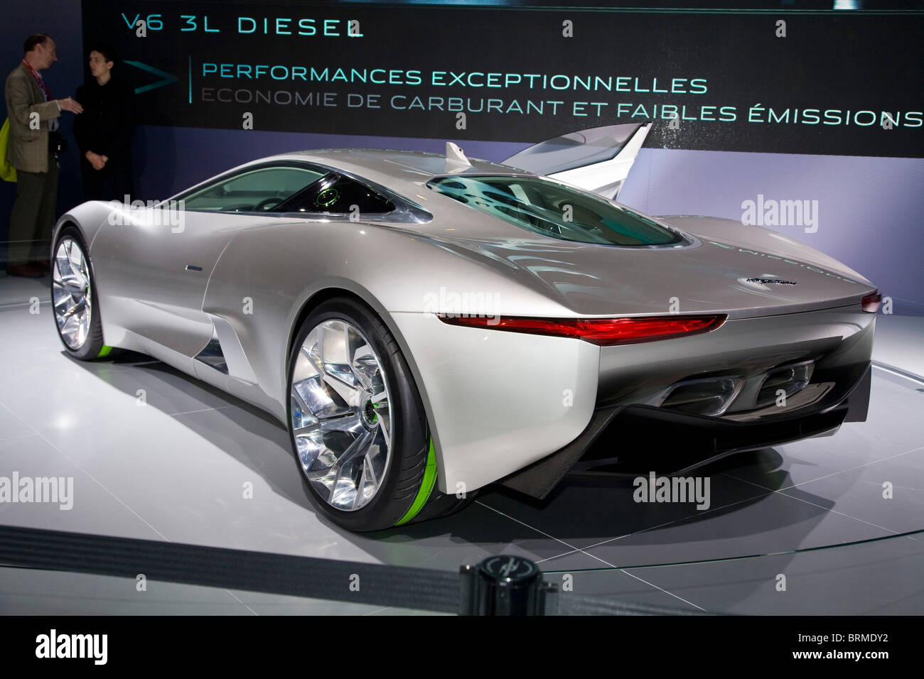 Paris Motor Show 2010 And The Jaguar C X 75 Concept   Stock Image
