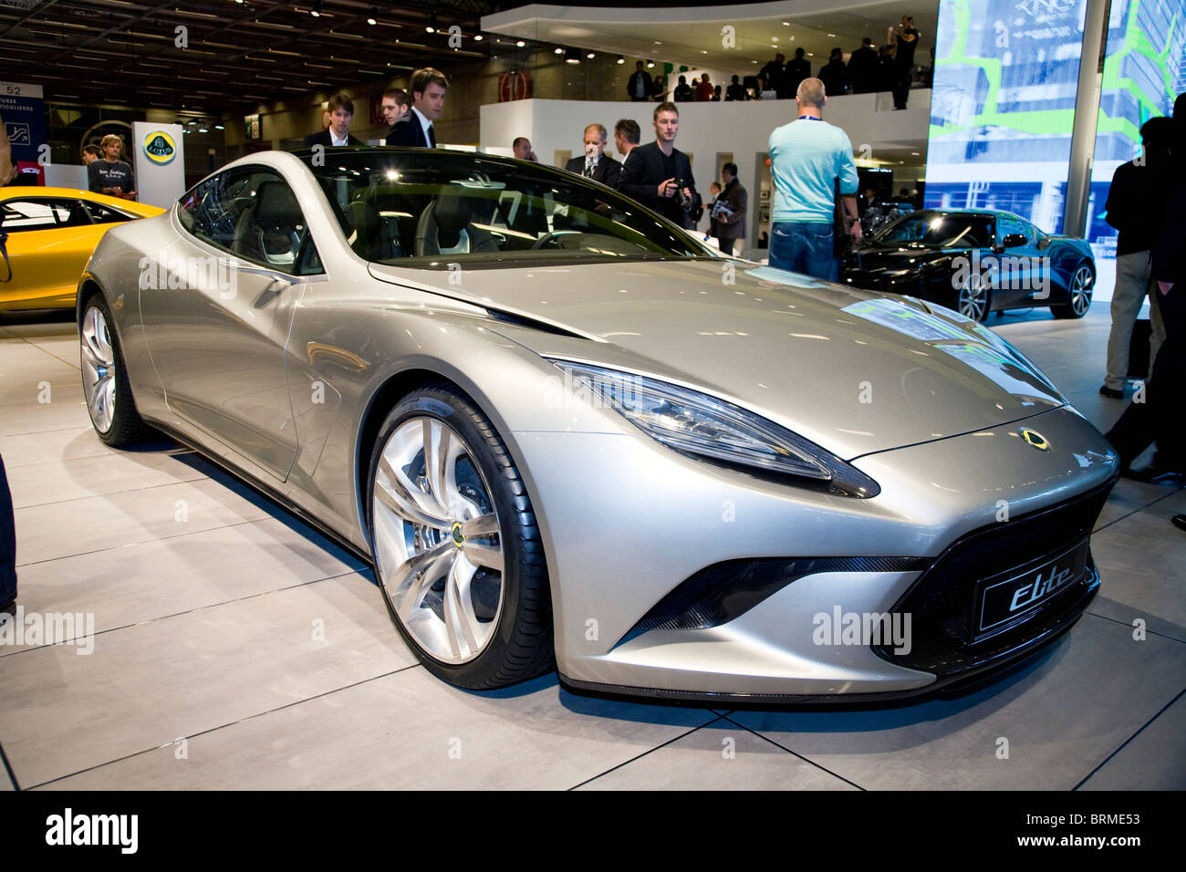 Paris motor show 2010 and the Lotus Elite - Stock Image