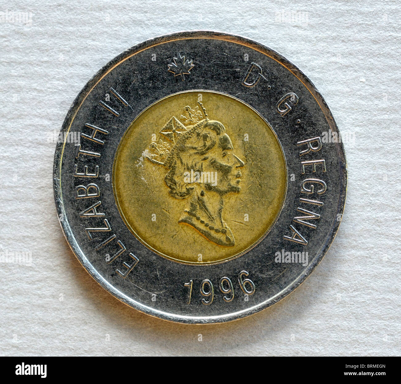 Canada Two 2 Dollar Coin. - Stock Image