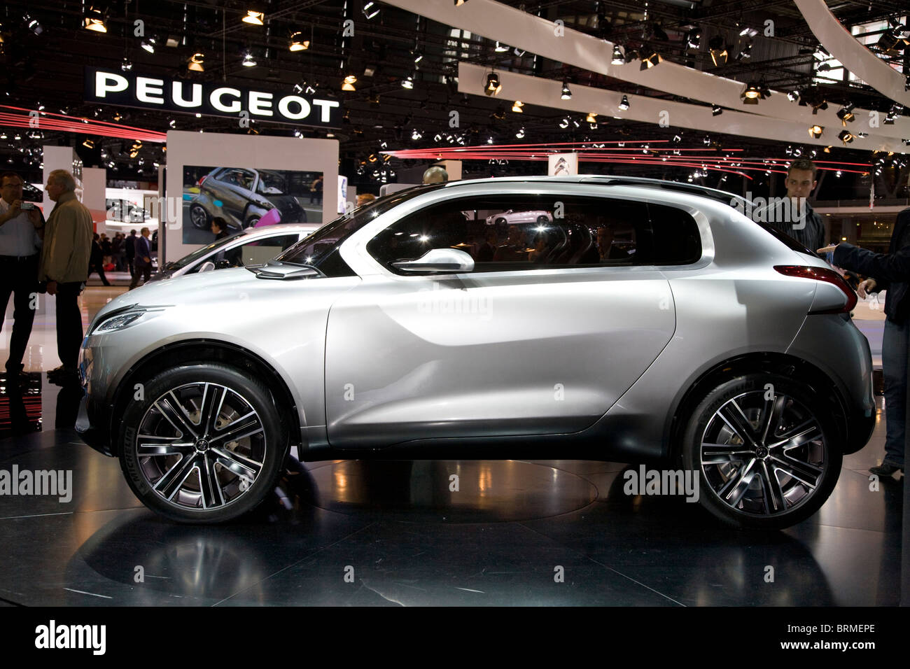 Paris motor show 2010 and the Peugeot HR1 - Stock Image