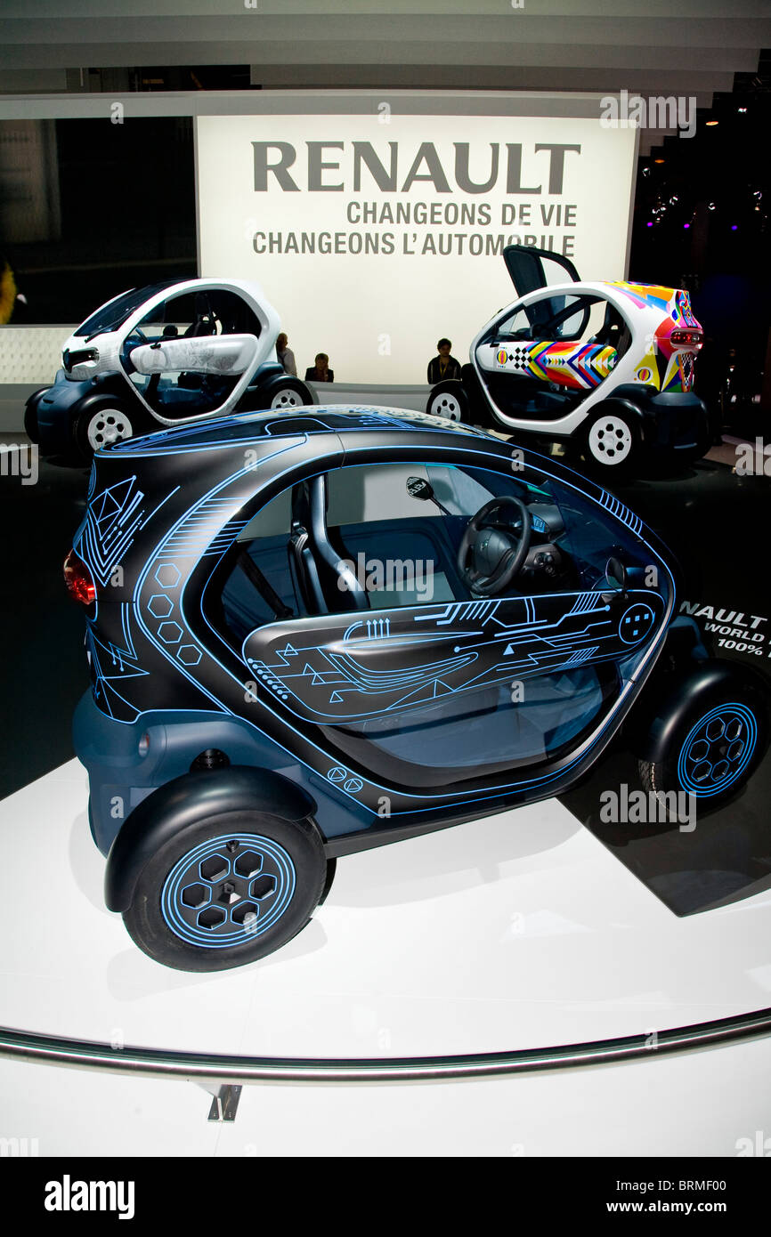 Paris motor show 2010 and the Renault Twizy Stock Photo
