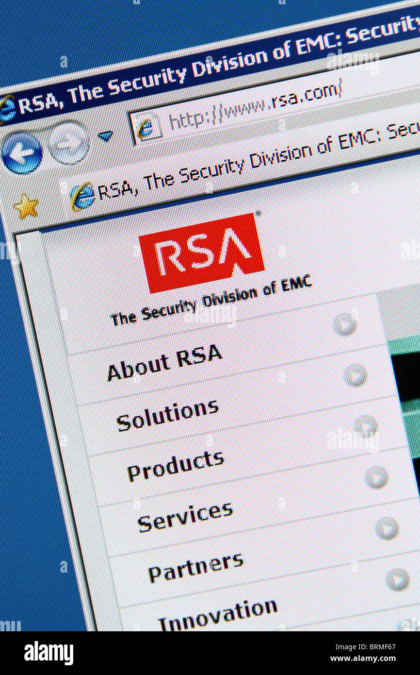 online security RSA - Stock Image