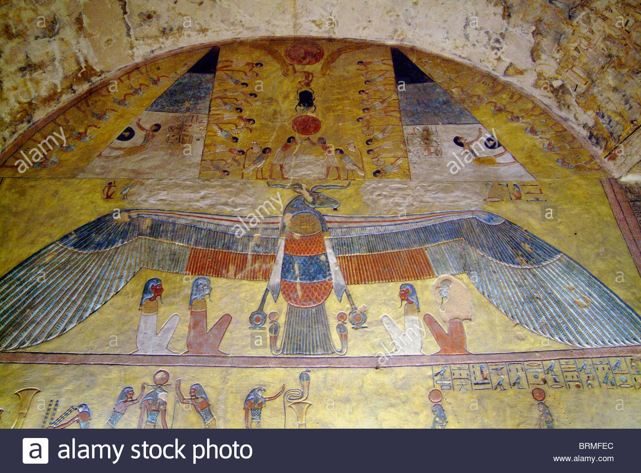 Tomb of Tausert at the Valley of the Kings at Luxor. - Stock Image