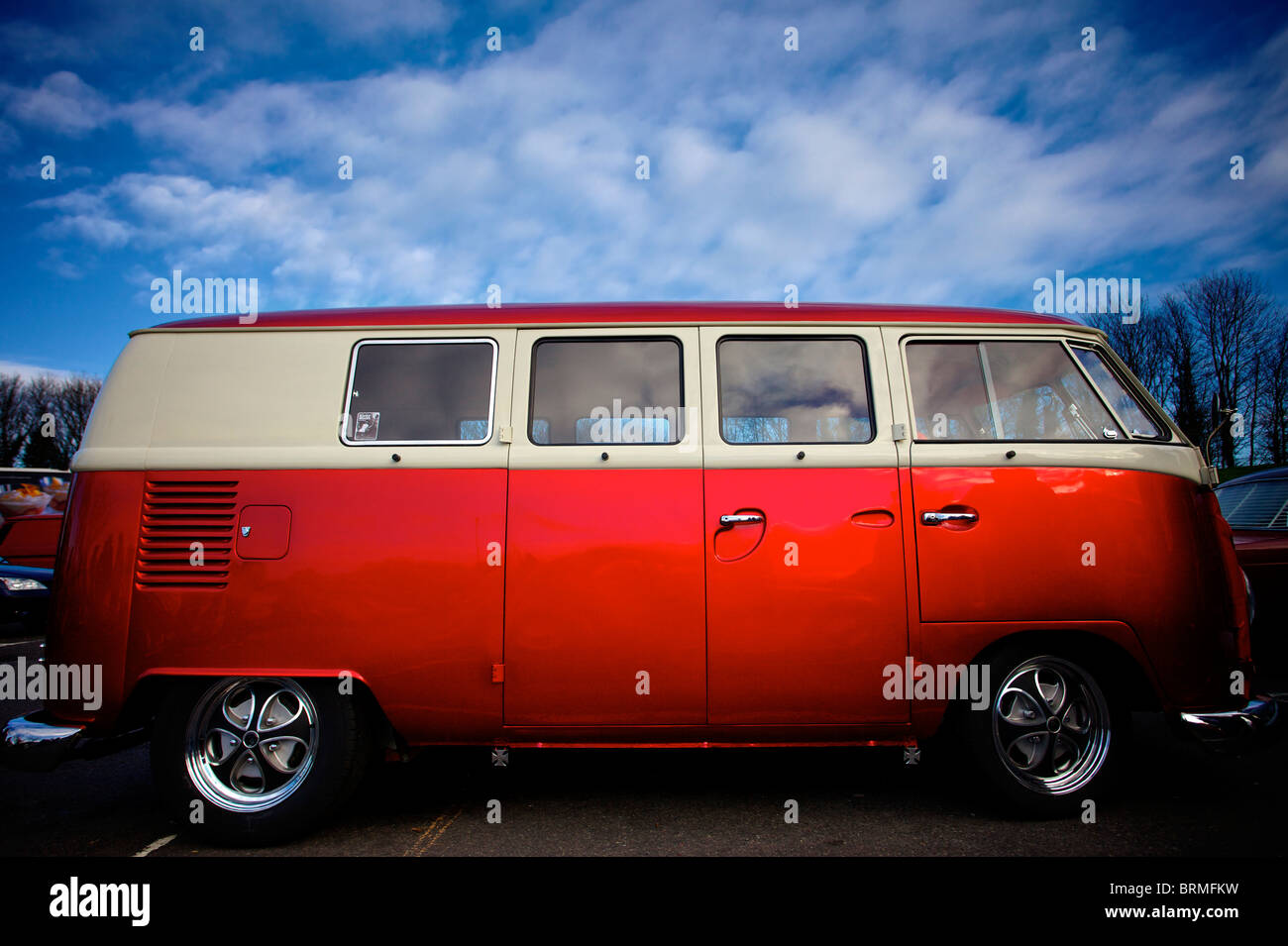 VW Camper Van Side View