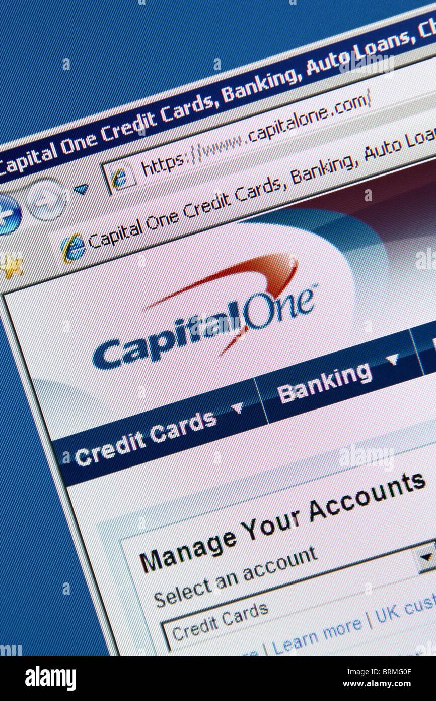 Capitalone banking creditcard - Stock Image